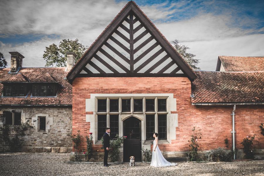 fotos de boda en la casona de las fraguas cantabria novios posando